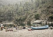 Start of rafting trip.