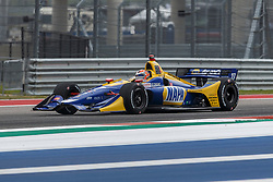 March 23, 2019 - Austin, TX, U.S. - AUSTIN, TX - MARCH 23: Alexander Rossi (27) in the NAPA AUTO PARTS, Honda powered Dallara IR-18 at turn 18 during Practice 3 at the IndyCar Classic held March 22-24, 2019 at the Circuit of the Americas in Austin, TX. (Photo by Allan Hamilton/Icon Sportswire) (Credit Image: © Allan Hamilton/Icon SMI via ZUMA Press)