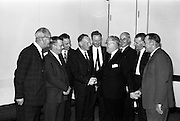 31/7/1964<br /> 07/31/1964<br /> 31 July 1964<br /> <br /> A group of Castrol executives wishing Mr. Fred Youell a happy retirement
