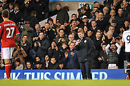 Cardiff's Manager Ole Gunnar Solskjaer giving the thumbs-up to Cardiff's Juan Cala.  Barclays Premier League , Tottenham Hotspur v Cardiff city at White Hart Lane in London, England on Sunday 2nd March 2014.<br /> pic by John Fletcher, Andrew Orchard sports photography.