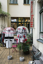 FREItag Fashion boutique in Hackescher Markt courtyard in Berlin Germany