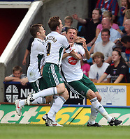 Plymouth celebrate Krisztian Timar's early goal<br /> Coca Cola Chmpionship. Crystal Palace v Plymouth. 08.08.09<br /> Pic By Karl Winter Fotosports International