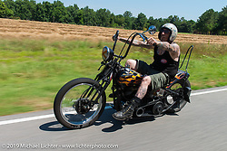 "Richie Pan's last ride. Richie out riding with the coast-to-coast ""Stampeders"" Saturday morning during the Smokeout. Rockingham, NC. USA. June 20, 2015.  Photography ©2015 Michael Lichter."