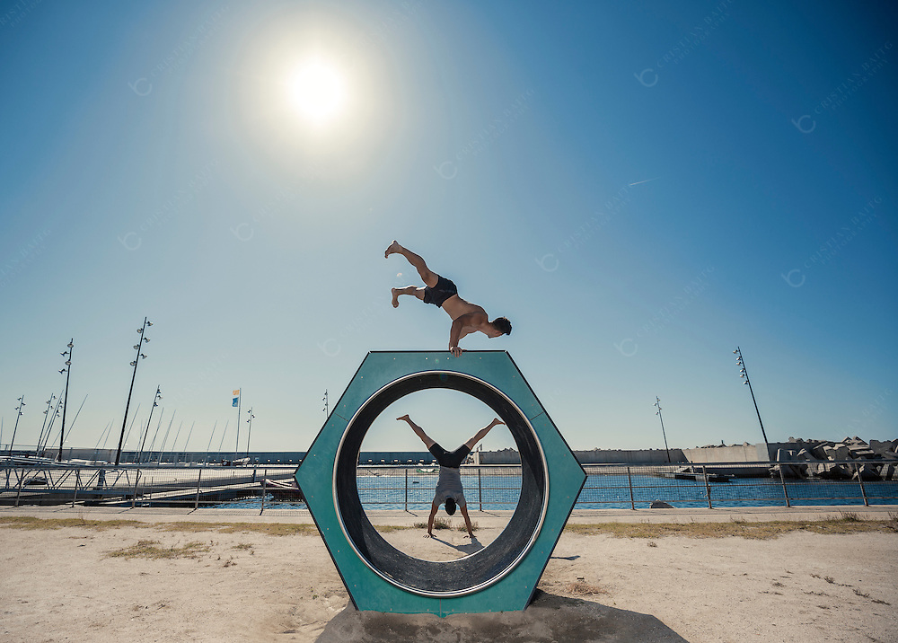 Urban street work out and calisthenics sport