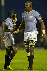 September 9, 2017 - Galway, Ireland - Khaya Majola (L) and Victor Sekekete (R) of Kings during the Guinness PRO14 rugby match between Connacht Rugby and Southern Kings at the Sportsground in Galway, Ireland on September 9, 2017  (Credit Image: © Andrew Surma/NurPhoto via ZUMA Press)