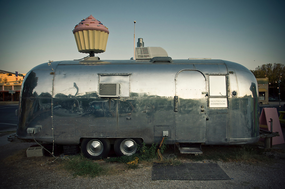 Hey Cupcake! food trailer at Meals on Wheels on South Congress avenue in Austin, Texas