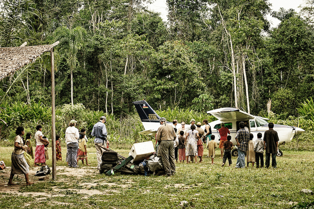 Jungle airstrip.