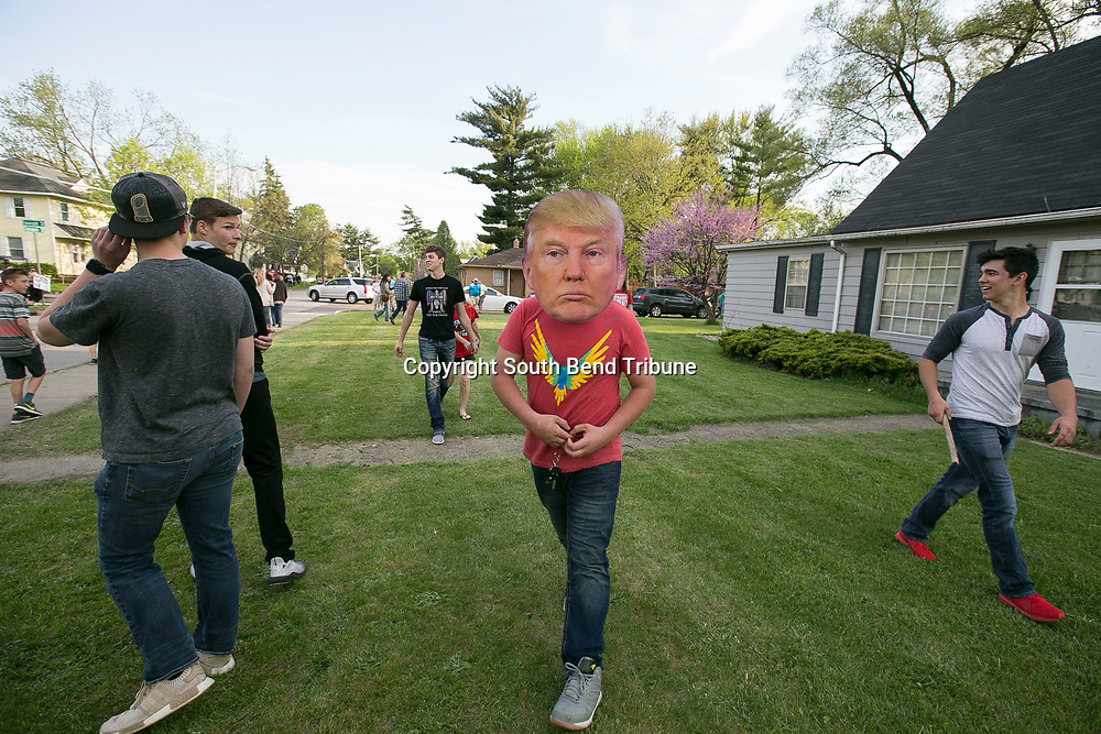 Thousands of President Donald Trump's supporters gathered at Northside Gym on Thursday, May 10, 2018, in Elkhart to listen to his speech.