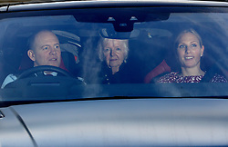 Mike Tindall and Zara Tindall leaving the Queen's Christmas lunch at Buckingham Palace, London.
