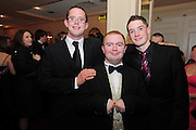 John Farragher, Michael Mullins, Shane Broderick  at the  Ability West,  second annual Best Buddies ball, 2010 in the Galway Bay Hotel, Salthill Galway. Photo:Andrew Downes.