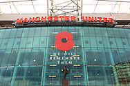 A general view of a remembrance poppy on the East Stand - Manchester United vs. Crystal Palace - Barclay's Premier League - Old Trafford - Manchester - 08/11/2014 Pic Philip Oldham/Sportimage