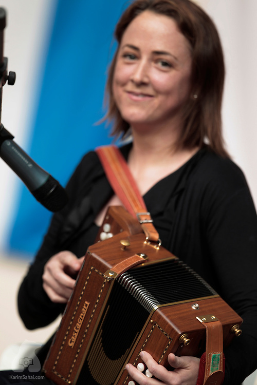 WELLINGTON, New Zealand, 12 December 2010...Irish musician Neasa Scanlon plays the accordion at the Botanical Garden's Soundshell stage, during the 'Kaleidoscope of European Carols' organised by the European Forum. The multi-cultiural event featured traditional dances and Christmas songs from Germany, Hungary, Ireland, Malta, The Netherlands, Poland, Slovenia, Sweden, Switzerland and Wales.