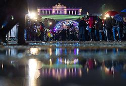 30.05.2013, Schoenbrunner Schlosspark, Wien, AUT, Sommernachtskonzert der Wiener Philharmoniker, im Bild Wasserlacken und Zuschauer vor Buehne und Gloriette // puddle and spectators in front of stage and Gloriette during summer night concert of the viennese philharmonic orchestra, chateau park Schoenbrunn, Vienna, Austria on 2013/05/30, EXPA Pictures © 2013, PhotoCredit: EXPA/ Michael Gruber