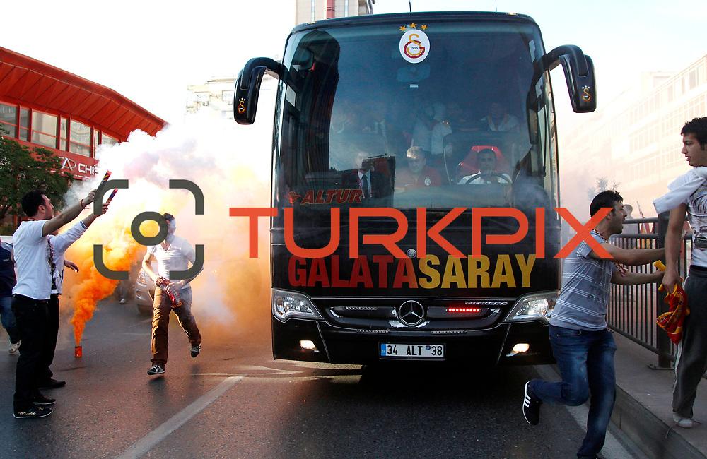 Galatasaray's Supporters during their Turkish superleague soccer derby match Fenerbahce between Galatasaray at the Sukru Saracaoglu stadium in Istanbul Turkey on Sunday 12 May 2013. Photo by Aykut AKICI/TURKPIX