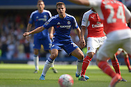 Cesar Azpilicueta of Chelsea in action. Barclays Premier League match, Chelsea v Arsenal at Stamford Bridge in London on Saturday 19th September 2015.<br /> pic by John Patrick Fletcher, Andrew Orchard sports photography.