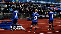 Fotball , 22. oktober 2016 , Tippeligaen , Eliteserien<br /> Stabæk - Sarpsborg 1-2<br /> <br /> Nicholas Grossman 8 , Morten Skjønsberg 3 og Birger Meling 25 , Stabæk , med sinte og oppgitte fans i bakgrunn etter tapet