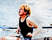 Henley. England, 1989 Henley Royal Regatta, River Thames, Henley Reach,  [© Peter Spurrier/Intersport Images],  The Stewards Challenge Cup, Jonny SEARLE, University of London Boat Club, Oxford University Boat Club