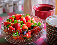 Fresh Florida Strawberies. Image taken with a Fuji X-T3 camera and 80 mm f/2.8 macro lens (ISO 1600, 80 mm, f/2.8, 1/60 sec).
