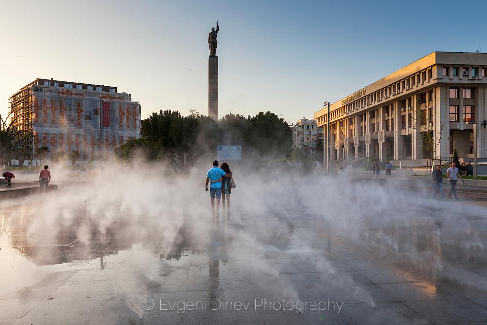 Fog-fountain in Burgas