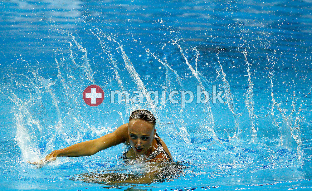 Marie-Pier BOUDREAU-GAGNON of Canada performs in the Synchronized (synchronised) Swimming Technical Solo final during the 14th FINA World Aquatics Championships at the Oriental Sports Center in Shanghai, China, Sunday, July 17, 2011. (Photo by Patrick B. Kraemer / MAGICPBK)
