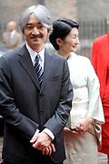 De Japanse prins Akishino , prinses Kiko Prins Constantijn en Prinses Laurentien komen aan op het binnenhof Op de foto: Op de foto: prinses Kiko en prins Akishino