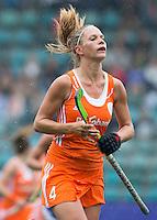 DEN HAAG - KITTY VAN MALE.  Nederland speelt oefenwedstrijd tegen USA in het Kyocera Stadion. COPYRIGHT KOEN SUYK