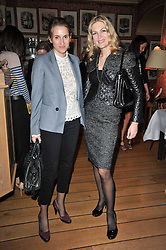 Left to right, COUNTESS CHRISTINE D'ORNANO and PRICILLA WATERS at a lunch hosted by Roger Viver in honour of Bruno Frisoni their creative director, held at Harry's Bar, 26 South Audley Street, London on 31st March 2011.