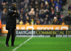 """Wolverhampton Wanderers Head Coach  Head Coach Nuno Espirito Santo during the Sky Bet Championship match between Wolverhampton Wanderers and Sheffield United. PRESS ASSOCIATION Photo. Picture date: Saturday February 3, 2018. See PA story SOCCER Wolves. Photo credit should read: Chris Radburn/PA Wire. RESTRICTIONS: EDITORIAL USE ONLY No use with unauthorised audio, video, data, fixture lists, club/league logos or """"live"""" services. Online in-match use limited to 75 images, no video emulation. No use in betting, games or single club/league/player publications."""