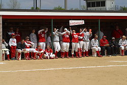 01 May 2005..The Birdhouse does a little dance, makes a little noise......ISU Redbirds V UNI (Northern Iowa) Panthers.  Illinois State University, Normal IL