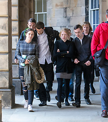 Alesha MacPhail's mum Georgina Lochrane leaving the Court of Appeal in Edinburgh.
