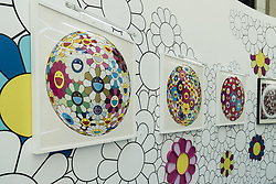 August 2, 2017 - Shanghai, Shanghai, China - Shanghai, CHINA-August 2 2017: (EDITORIAL USE ONLY. CHINA OUT)..The Japanese artist Murakami Takashi's exhibition is held at a shopping mall in Shanghai, August 2nd, 2017. (Credit Image: © SIPA Asia via ZUMA Wire)