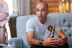 Belgium Coach Roberto Martinez informal Press Conference - 03 July 2018