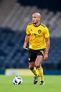 Vincent Kompany (#4) of Belgium on the ball during the International Friendly match between Scotland and Belgium at Hampden Park, Glasgow, United Kingdom on 7 September 2018.