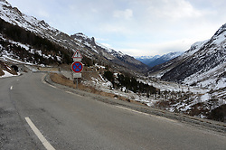 © Licensed to London News Pictures. 13/01/2015.Le Monetier Les Bains, Serre Chevalier, France. <br /> <br /> Serre Chevalier in the French Alps, this valley is normally covered in thick snow at this time of year. Fresh ski track would usually criss cross this area.<br /> <br /> Due to the warmer weather this has not been the case. They had a dump shortly after New Year, of whioch most of that has now faded.<br /> <br /> A local hoteler say it was the worst they had seen it in their 15 years living in the valley. <br /> <br />  Photo credit : Russ Nolan/LNP