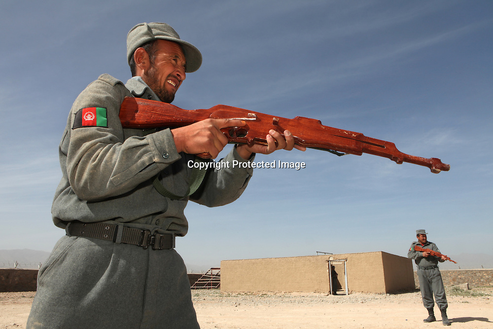 Afghan National Police being trained by ISAF/ Eupol in the trainingcentre in Tarin Kowt, Uruzgan.