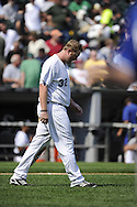CHICAGO - JULY 06:  Adam Dunn #32 of Chicago White Sox looks on against the Kansas City Royals on July 6, 2011 at U.S. Cellular Field in Chicago, Illinois.  The Royals defeated the White Sox 4-1.  (Photo by Ron Vesely)  Subject: Adam Dunn
