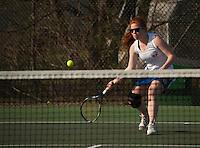 Gilford varsity tennis with White Mountain.  Karen Bobotas for the Laconia Daily Sun