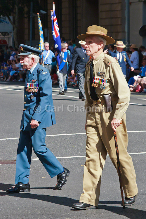 Old Soldiers march during Brisbane ANZAC day 2005 parade <br /> <br /> Editions:- Open Edition Print / Stock Image
