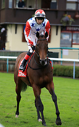 Glenrowan Rose ridden by Connor Beasley during the 32Red Gold Cup at Haydock Park Racecourse. PRESS ASSOCIATION Photo. Picture date: Saturday September 30, 2017. See PA story RACING Haydock. Photo credit should read: Clint Hughes/PA Wire