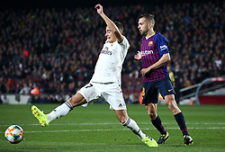 February 6, 2019 - Barcelona, Spain - Lucas Vazquez and Jordi Alba during the match between FC Barcelona and Real Madrid corresponding to the first leg of the 1/2 final of the spanish cup, played at the Camp Nou Stadium, on 06th February 2019, in Barcelona, Spain. (Credit Image: © Joan Valls/NurPhoto via ZUMA Press)