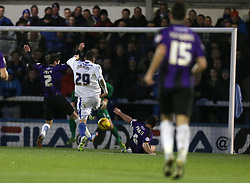Rochdale's Graham Cummins scores the second goal  - Photo mandatory by-line: Matt Bunn/JMP - Tel: Mobile: 07966 386802 29/12/2013 - SPORT - FOOTBALL - Spotland Stadium - Rochdale - Rochdale v Bristol Rovers - Sky Bet League Two