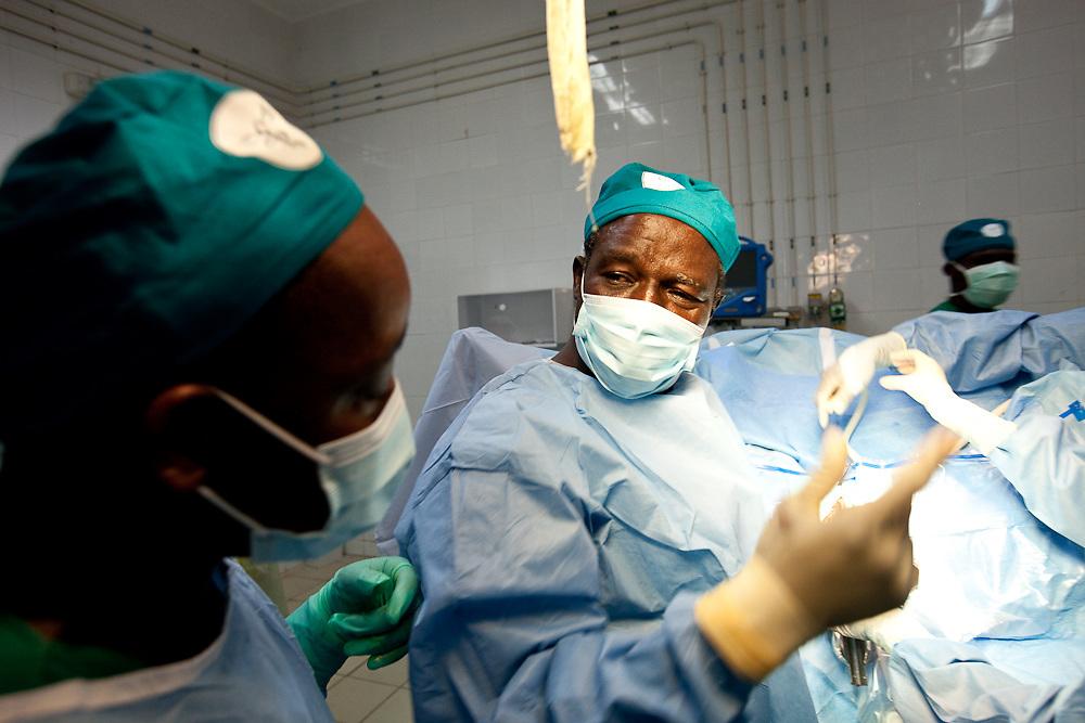 Fistula Surgery in Segou, Mali.  (Prof. Ouattara trains local staff)