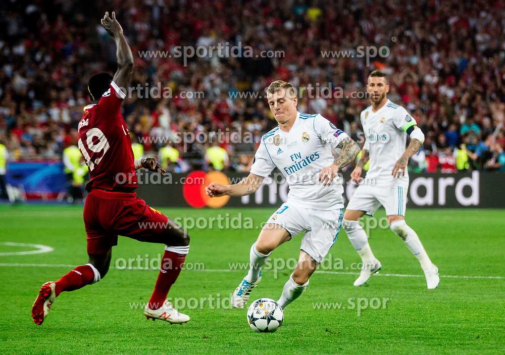 Toni Kroos of Real Madrid during the UEFA Champions League final football match between Liverpool and Real Madrid at the Olympic Stadium in Kiev, Ukraine on May 26, 2018.Photo by Sandi Fiser / Sportida