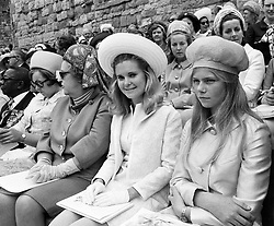Two VIPs attending the investiture of the Prince of Wales, Miss Tricia Nikon (l), daughter of American president Nixon, and Princess Marie-Astrid, daughter of the Grand Duke of Luxembourg.