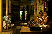 Master craftsmen Radhakhrishna Stpathy (r) and his brorther, Srikanda mould an icon in wax in their workshop in Swamimalai, India..The current Stpathy family is the twenty third generation of bronze casters dating back to the founding of the Chola Empire. The Stapathys had been sculptors of stone idols at the time of Rajaraja 1 (AD985-1014) but were called to Tanjore to learn bronze casting. Their methods using the ,ƒÚlost wax,ƒÙ process remains unchanged to this day..