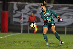 04 November 2016:  Brianna Riscossa during an NCAA Missouri Valley Conference (MVC) Championship series women's semi-final soccer game between the Indiana State Sycamores and the Illinois State Redbirds on Adelaide Street Field in Normal IL