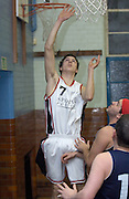 Erkenwald's Robin French reaches to the basket during the game at Eastbury Tigers on Thursday 9th February 2006.