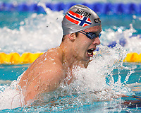 Svømming<br /> EM 2008<br /> Eindhoven<br /> 19.03.2008<br /> Foto: Wrofoto/Digitalsport<br /> NORWAY ONLY<br /> <br /> Alexander Dale Oen of Norway at the men's 100m breaststroke at the European Swimming Championships