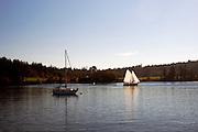Sailboat, Blind Bay, Shaw Island, San Juan Islands, Puget Sound, Washington State