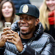 NLD/Amsterdam/20131109 - Dizzee Rascal arriving at his hotel